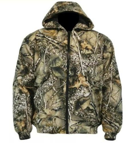 insulated hunting jacket coat camo burly tan