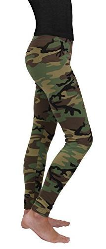 Rothco Women's Leggings, Woodland Camo, Large