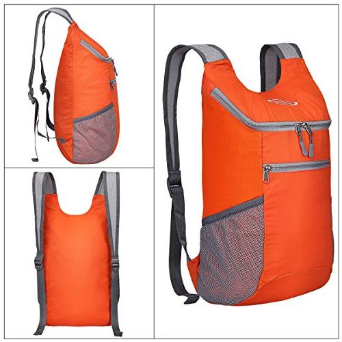 G4Free Packable Shoulder Backpack Hiking Daypacks Casual Foldable Bag for Adults 11L