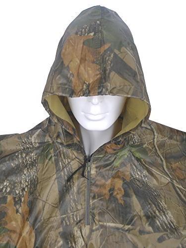 Rain Poncho, Camouflage Camo Shelter Ground Sheet