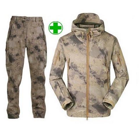 Men Outdoor <font><b>Gear</b></font> Soft Shell Camouflage Tactical <font><b>Jacket</b></font> Waterproof Coat Military <font><b>Jacket</b></font>