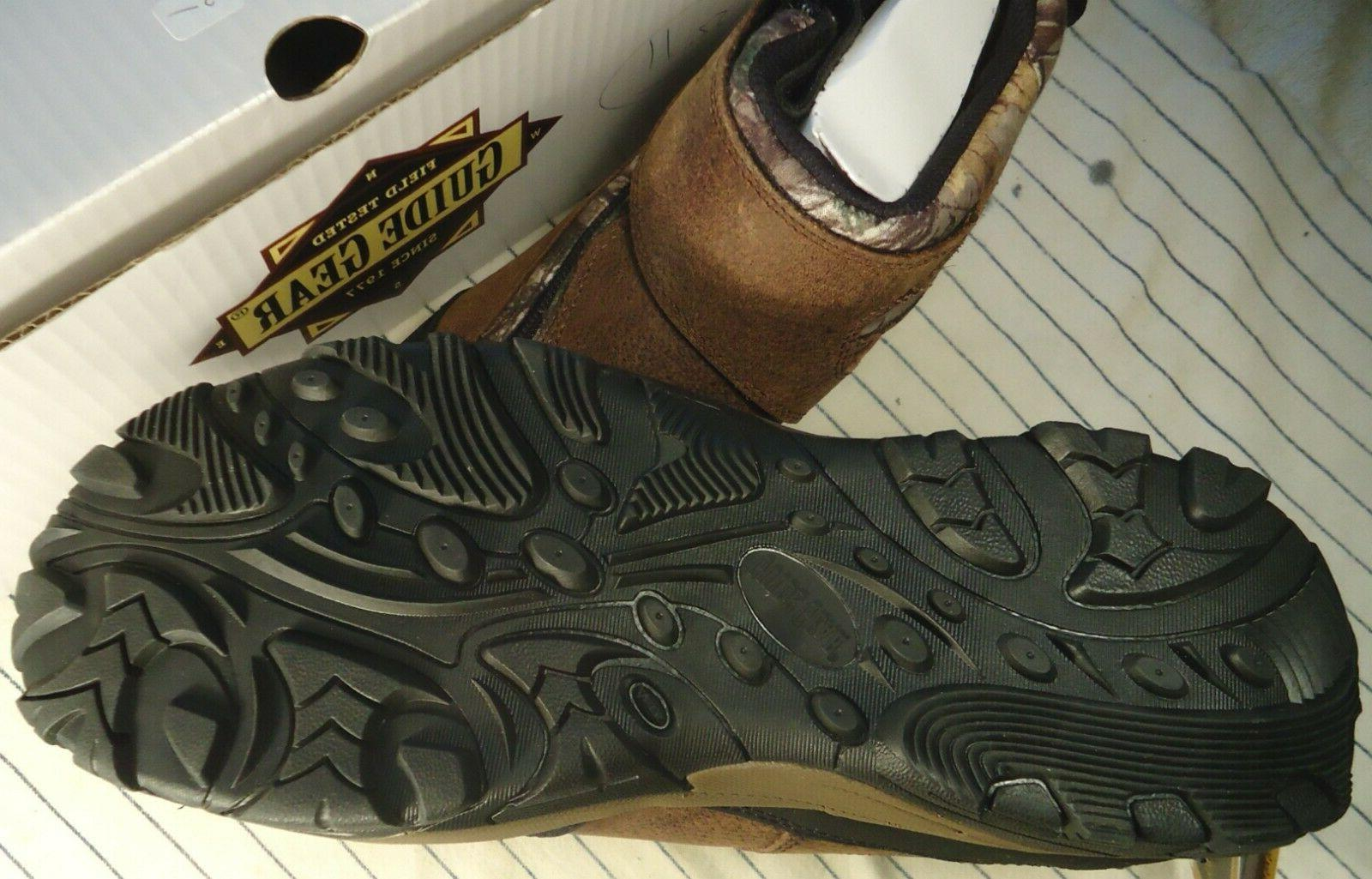 GUIDE 400G Thinsulate Waterproof Zip Hunting Boots 11 Camo/Brown