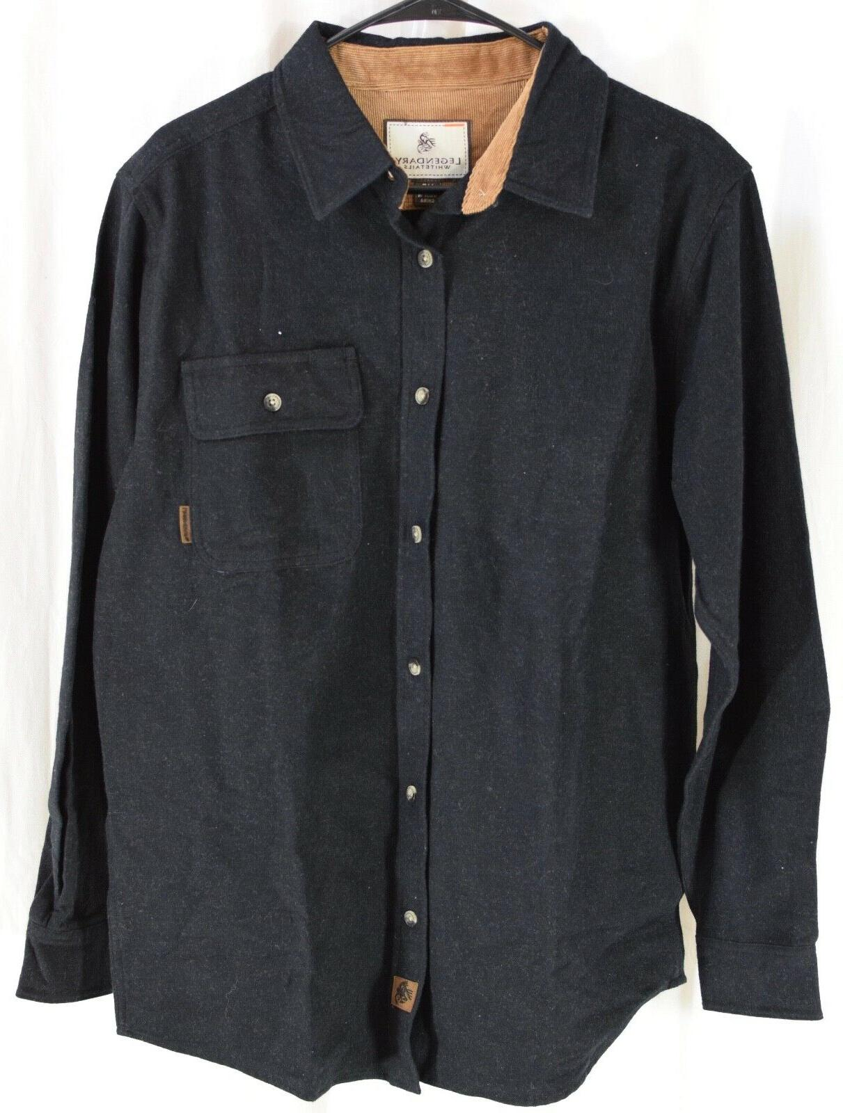 men s buck camp flannel shirt black
