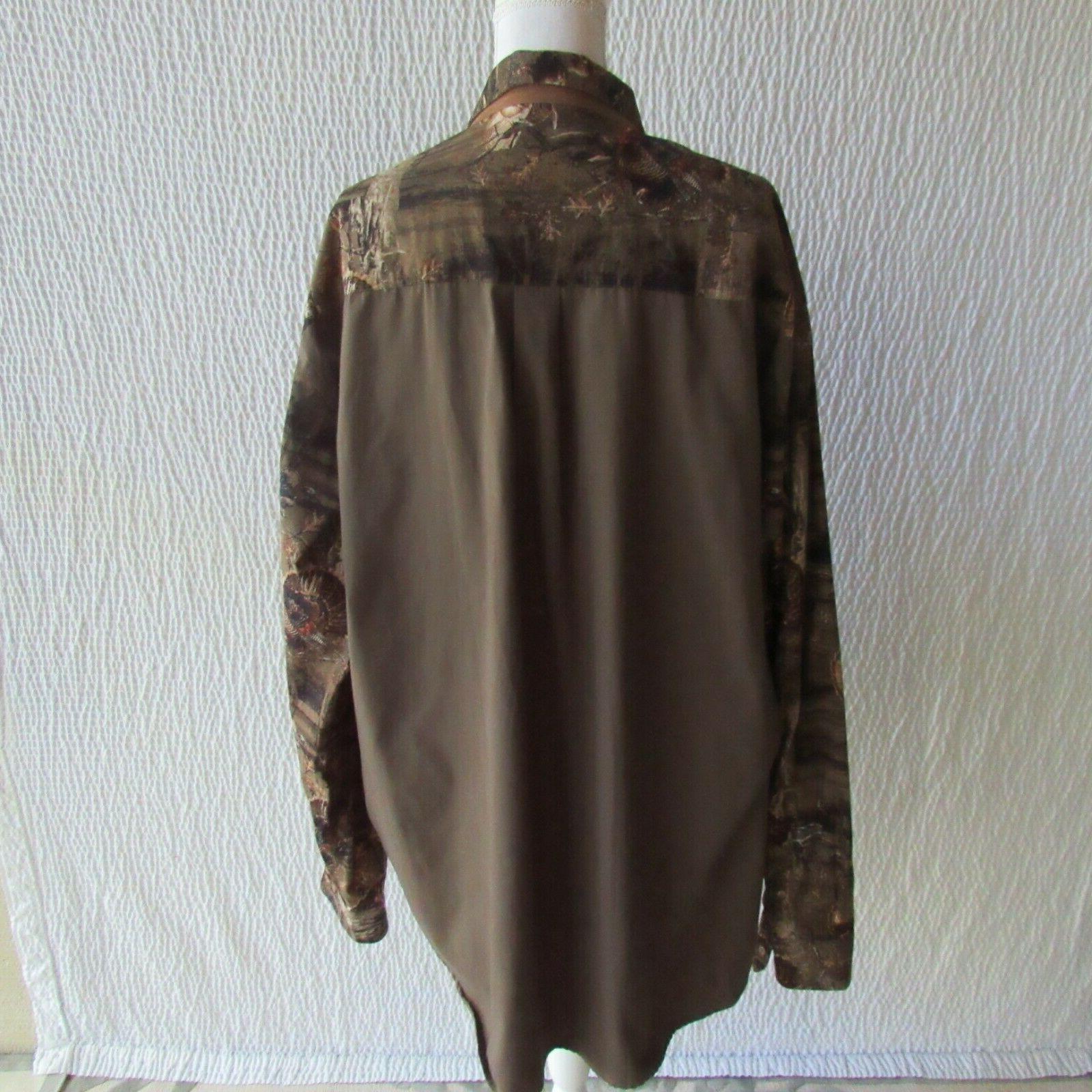 Mens 2XLT 2XL Shirt Turkey Whitetails Deer Gear