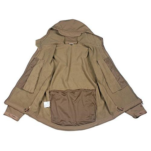 ReFire Gear Mens Army Special Jacket Outdoor Coat,Khaki,Medium