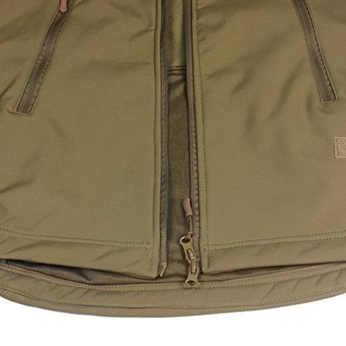 ReFire Gear Jacket Hooded Outdoor Coat,Khaki,Medium
