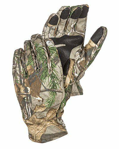 mens camouflage hunting gloves light to mid