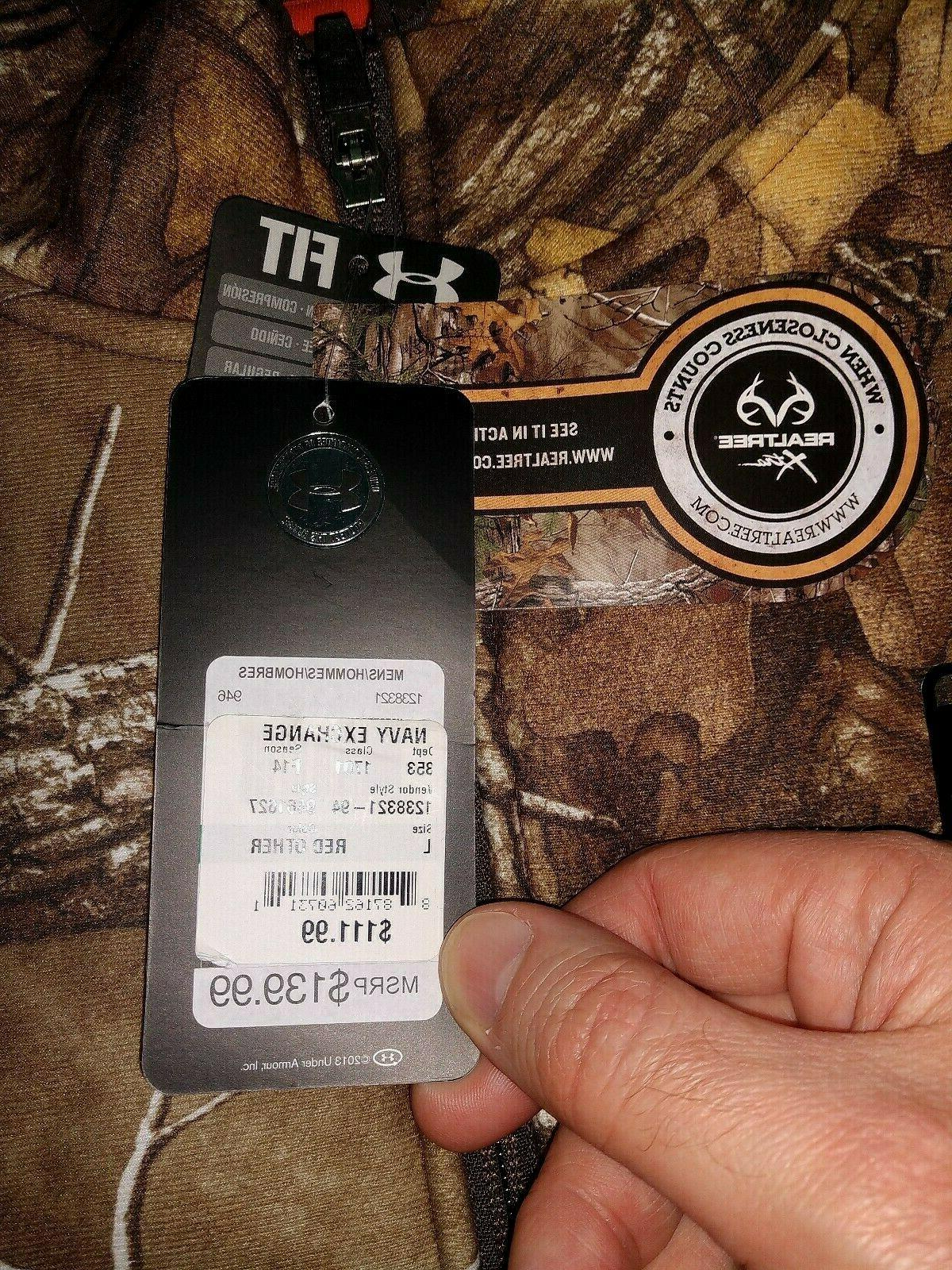 Mens Hunt Under Realtree Camo Jacket Large Cold