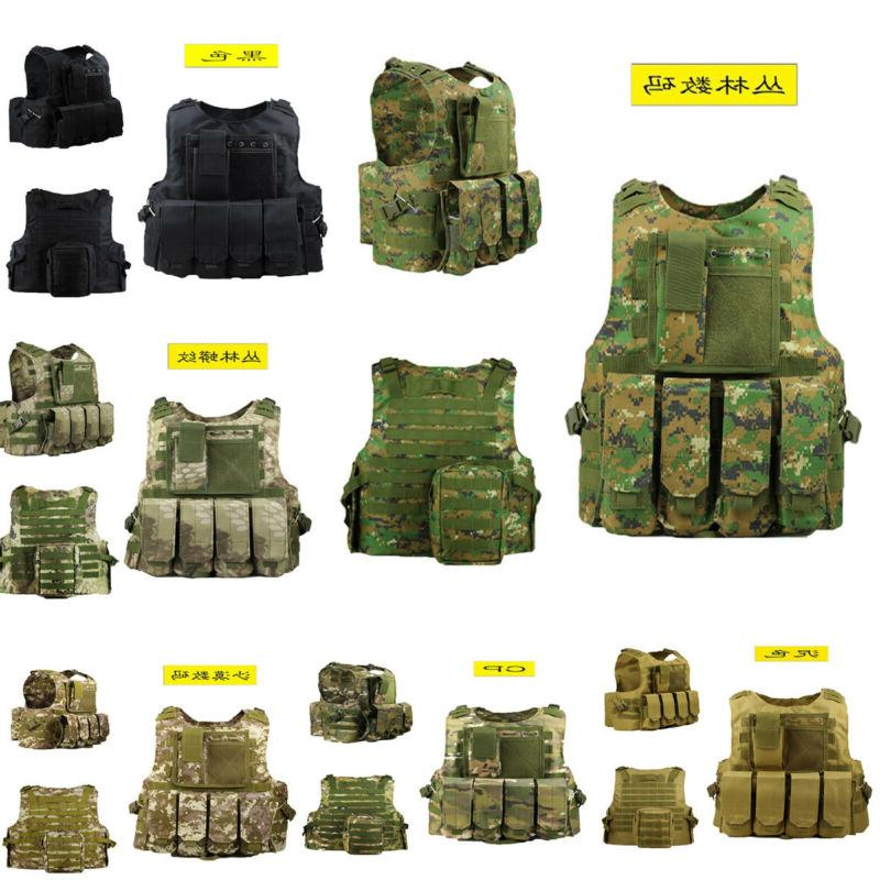 mens tactical military swat airsoft molle combat