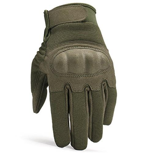 JIUSY Knuckle Airsoft Riding Hunting Combat Touch Screen Finger Gloves Small