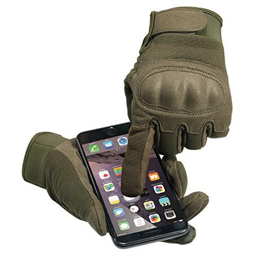 JIUSY Military Shooting Knuckle Airsoft Paintball Riding Combat Screen Finger Size Small B16