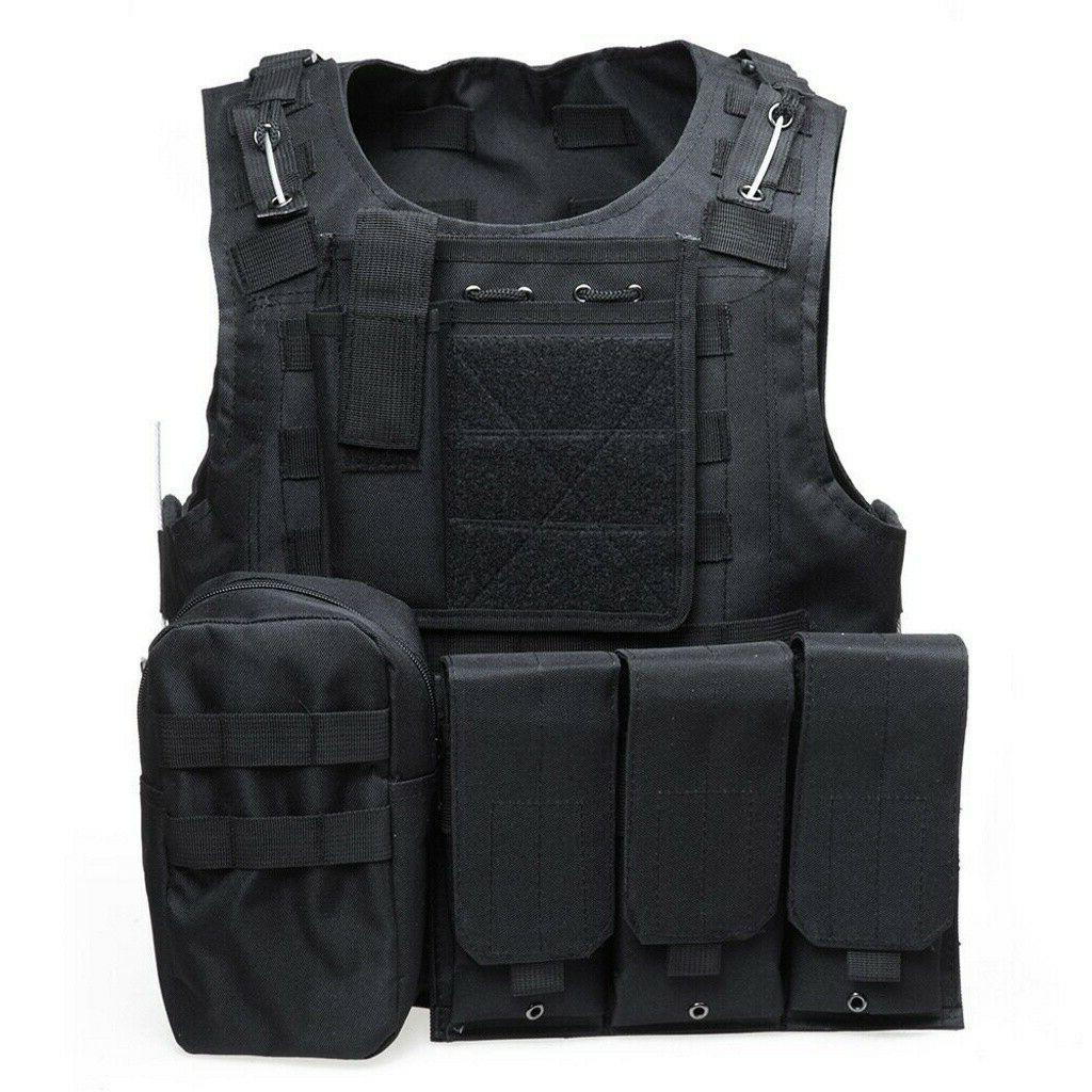 Military Vest Carrier Police Assault Combat Gear