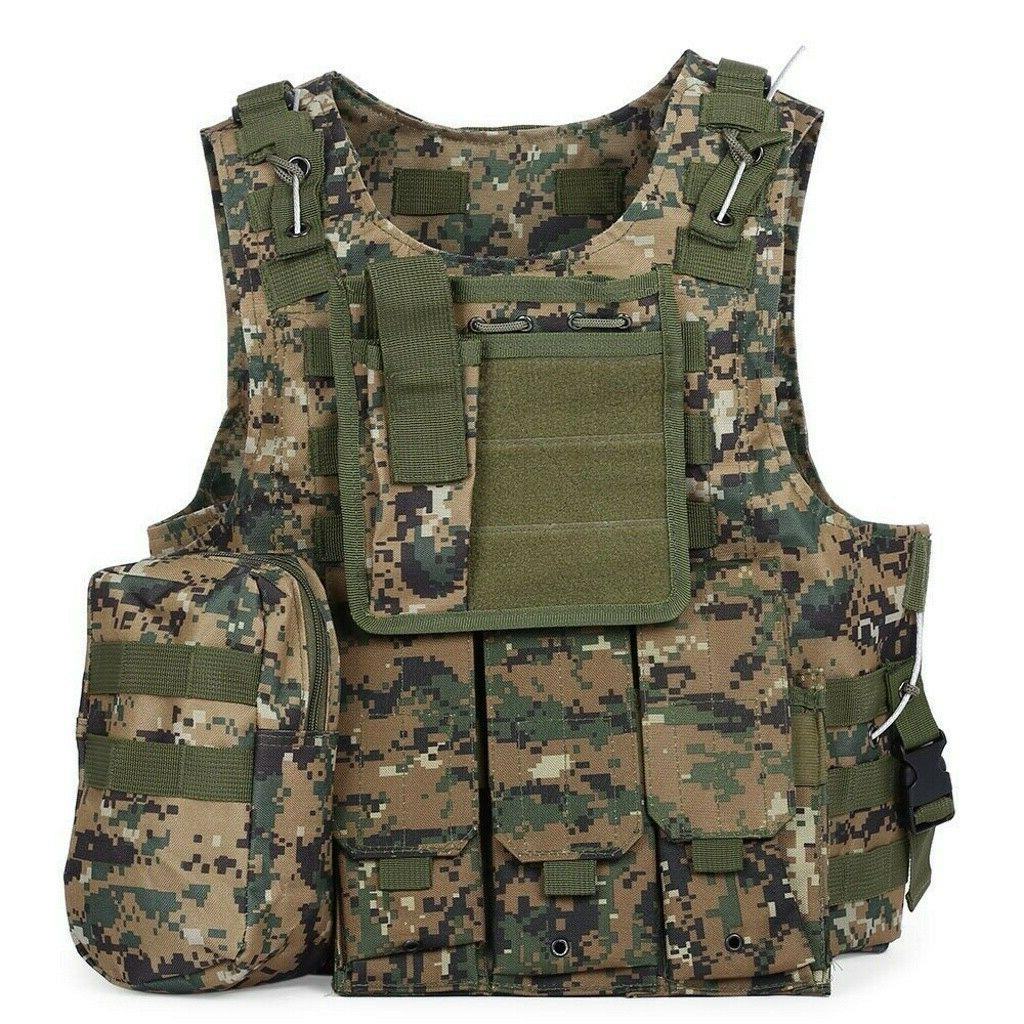 Military Vest Tactical Carrier Police Assault Gear US