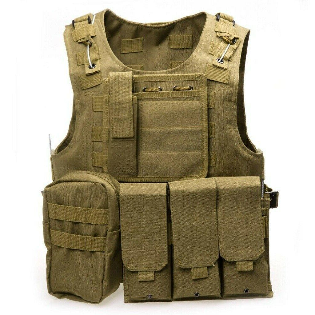 Military Vest Carrier Holster Police Assault Combat Gear