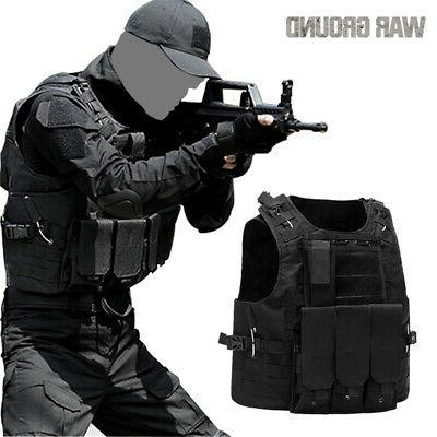 Military Vest Tactical Carrier Holster Police Assault Combat Gear