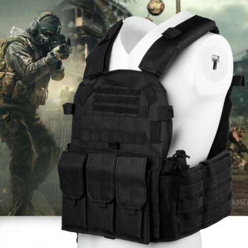 military vest tactical plate carrier molle airsoft