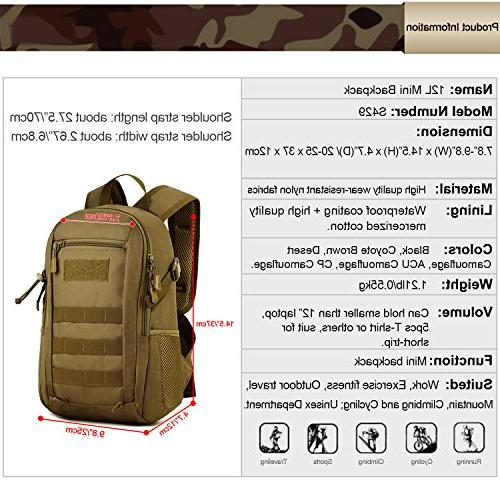 Huntvp 10L Military Gear Tactical Student School Hunting Camping Trekking Travel
