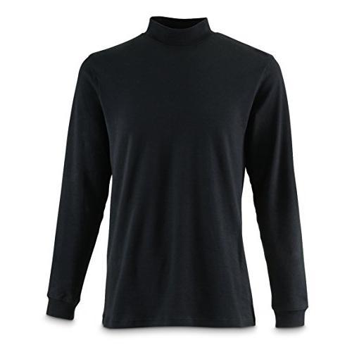 mock turtleneck long sleeve shirt