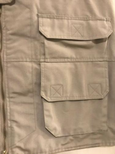 New Tact Beige hunting fishing cargo vest size