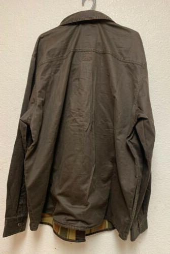 NEW Legendary Mens Journeyman Rugged Shirt Jacket Tobacco