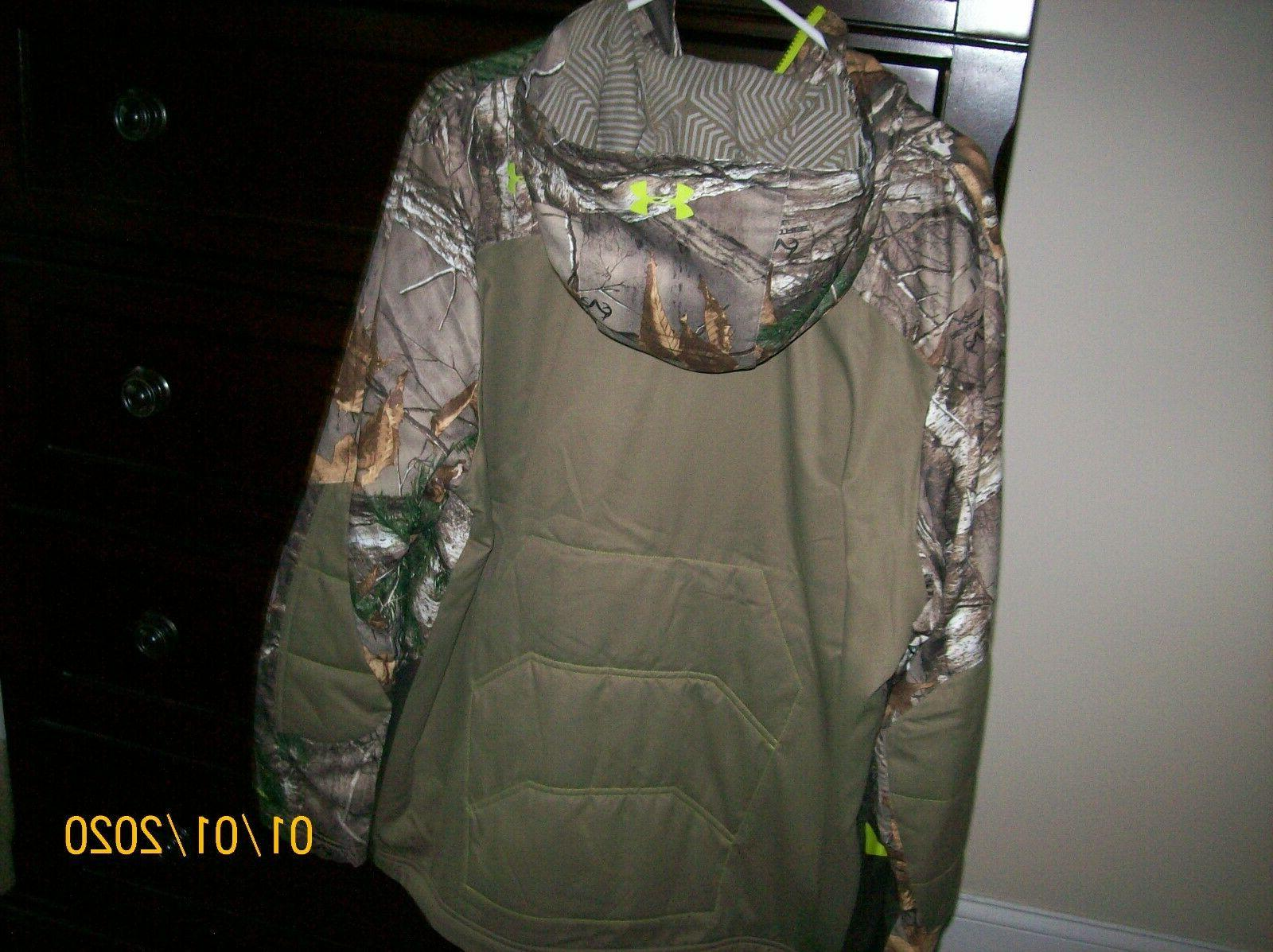 NWT SZ LARGE UNDER ARMOUR INFRARED HOODED HUNTING JACKET FRE
