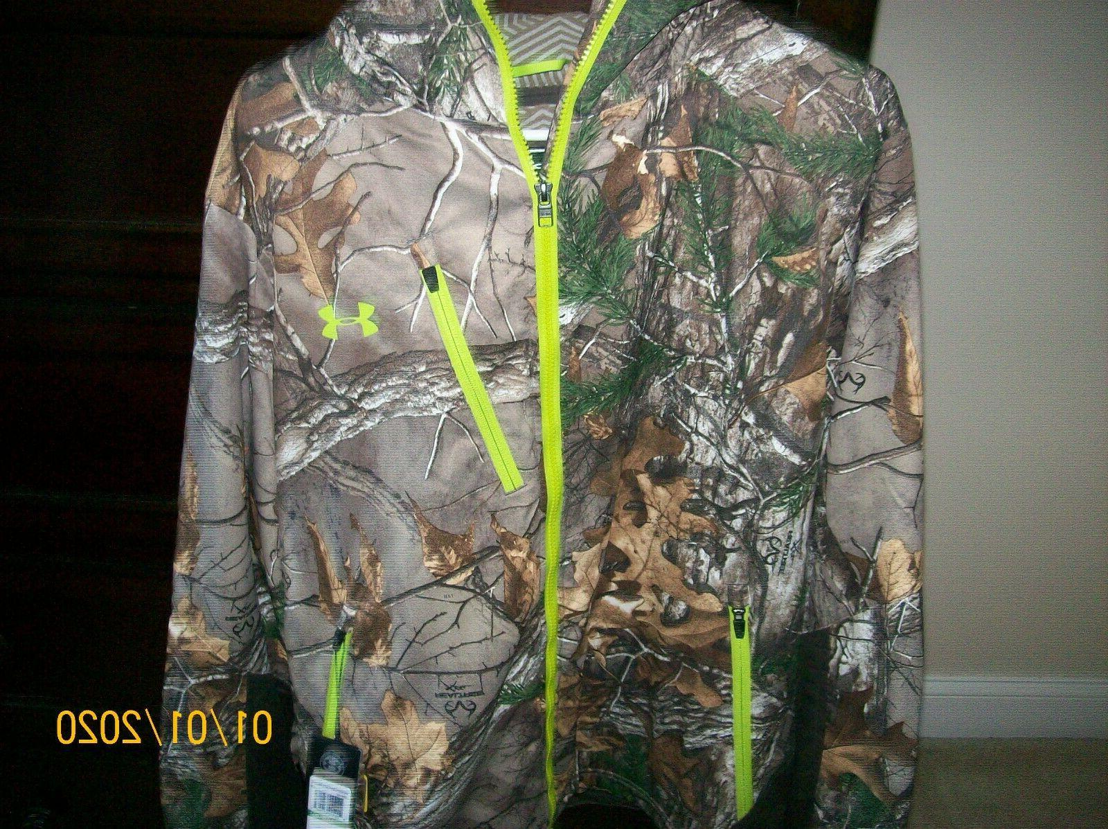 NWT SZ UNDER INFRARED HOODED CAMO JACKET FRE
