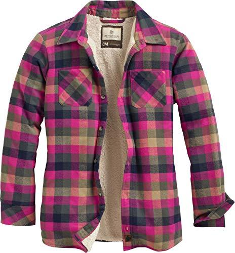 open country shirt jacket fuchsia