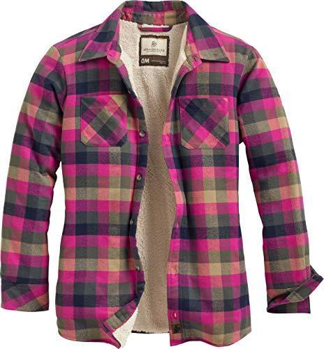 open country shirt jacket fuchsia
