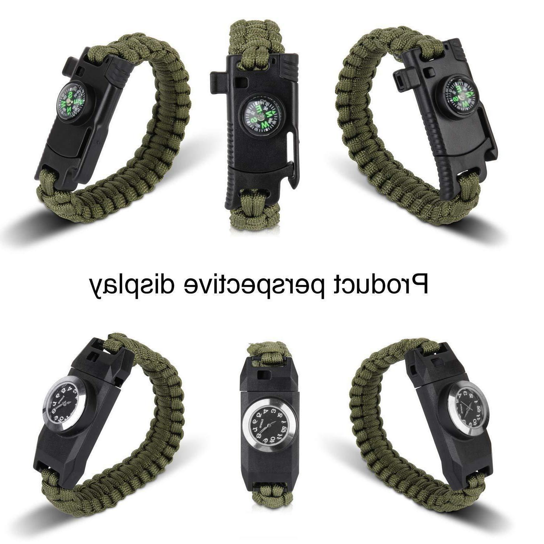 Meetrip Knife Survival Bracelet,Hiking Travelling Camping Hunting