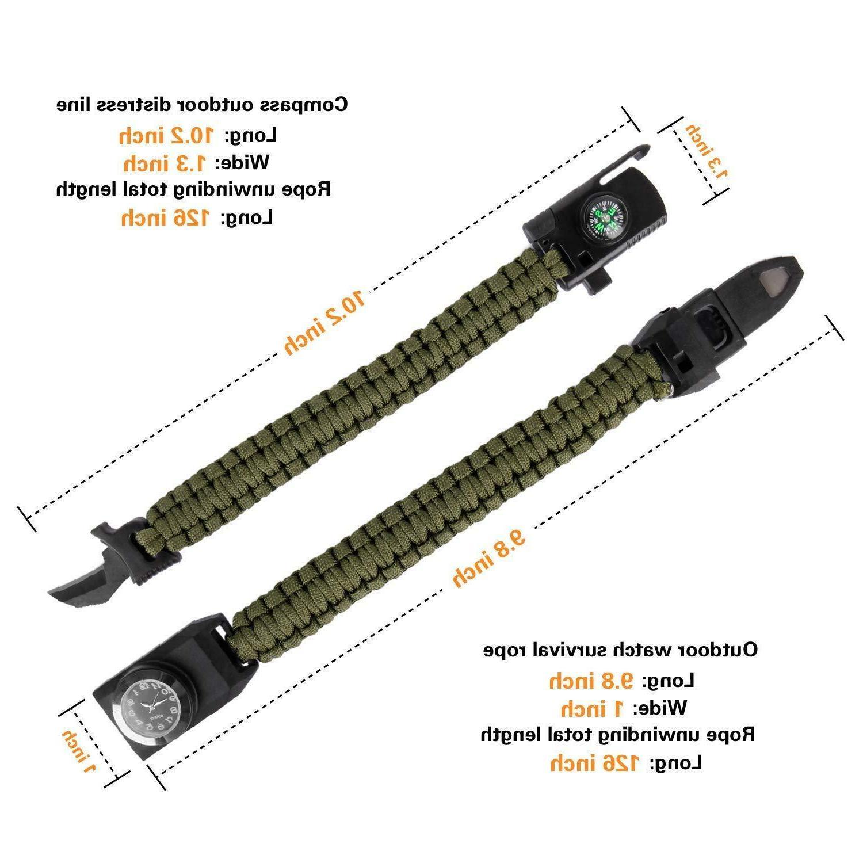 Meetrip Paracord Bracelet,Hiking Hunting