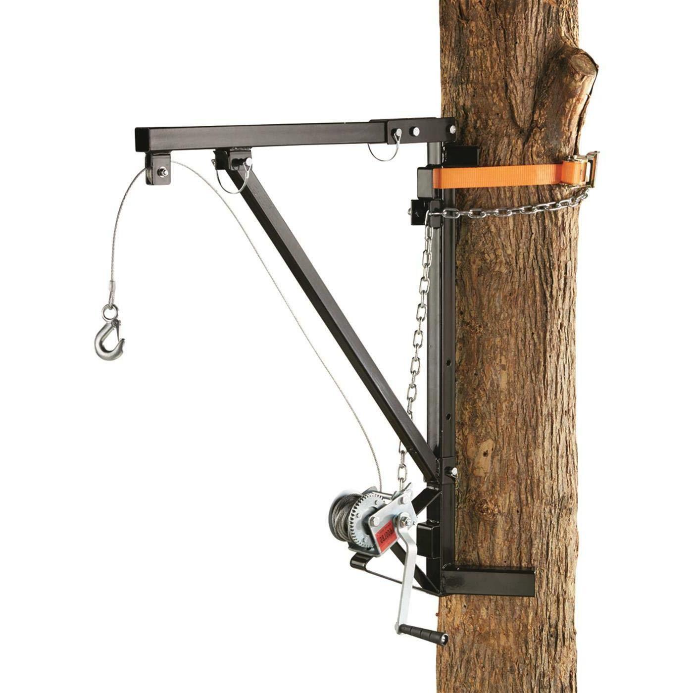 portable game hanger hoist tree mounted 600