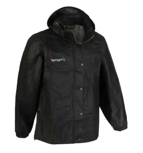 rain gear men s xl black jacket