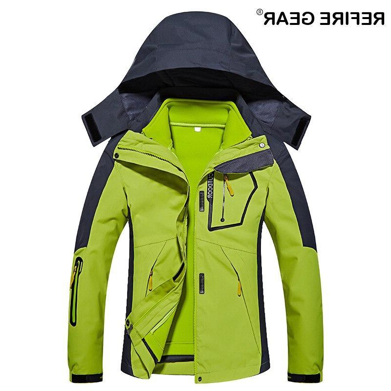 ReFire <font><b>Gear</b></font> Autumn Outdoor <font><b>Hunting</b></font> Clothes <font><b>Jackets</b></font> Women Warm Windbreaker Waterproof Coats Skiing Sport <font><b>Jacket</b></font>