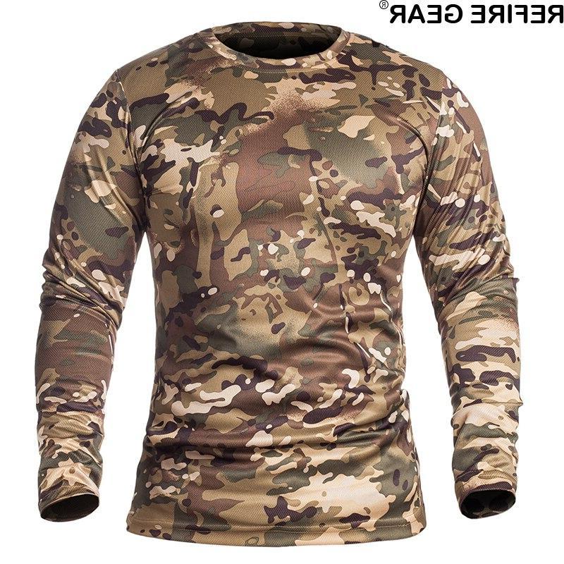 ReFire <font><b>Gear</b></font> Spring Sleeve Outdoor T-shirt Neck <font><b>Hunting</b></font>