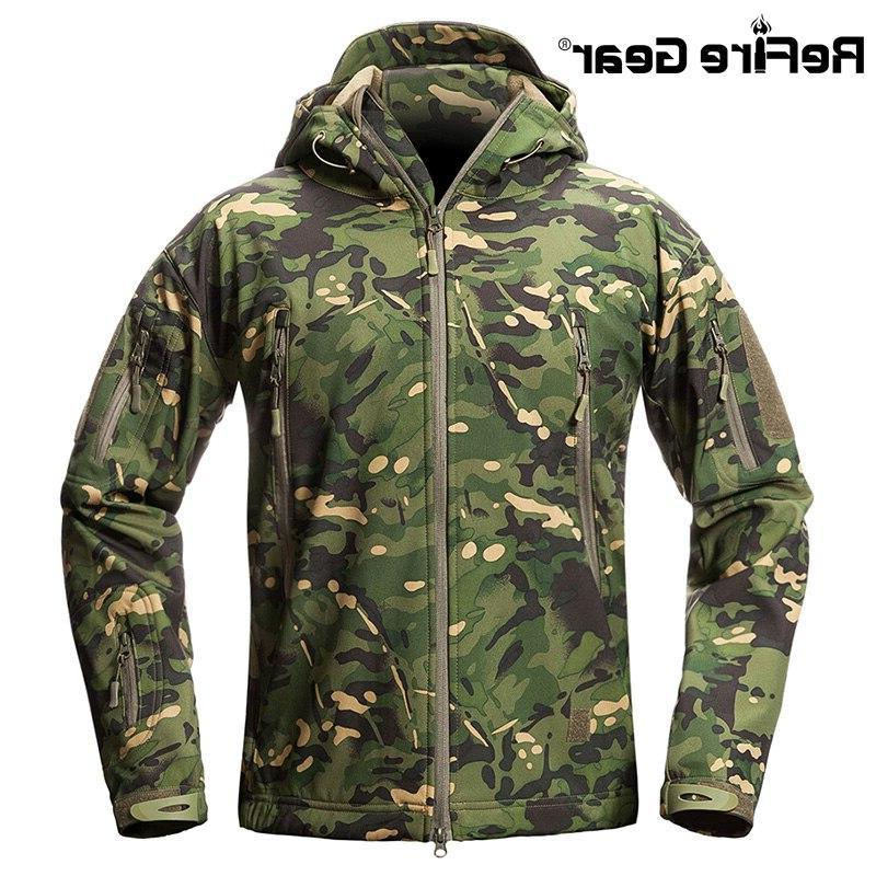 ReFire Waterproof Tactical Jacket <font><b>Men</b></font> Military Jacket Winter Hooded Clothes