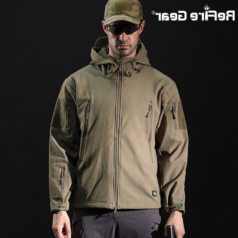 ReFire Tactical Jacket <font><b>Men</b></font> Military Jacket Winter Hooded Coat Clothes