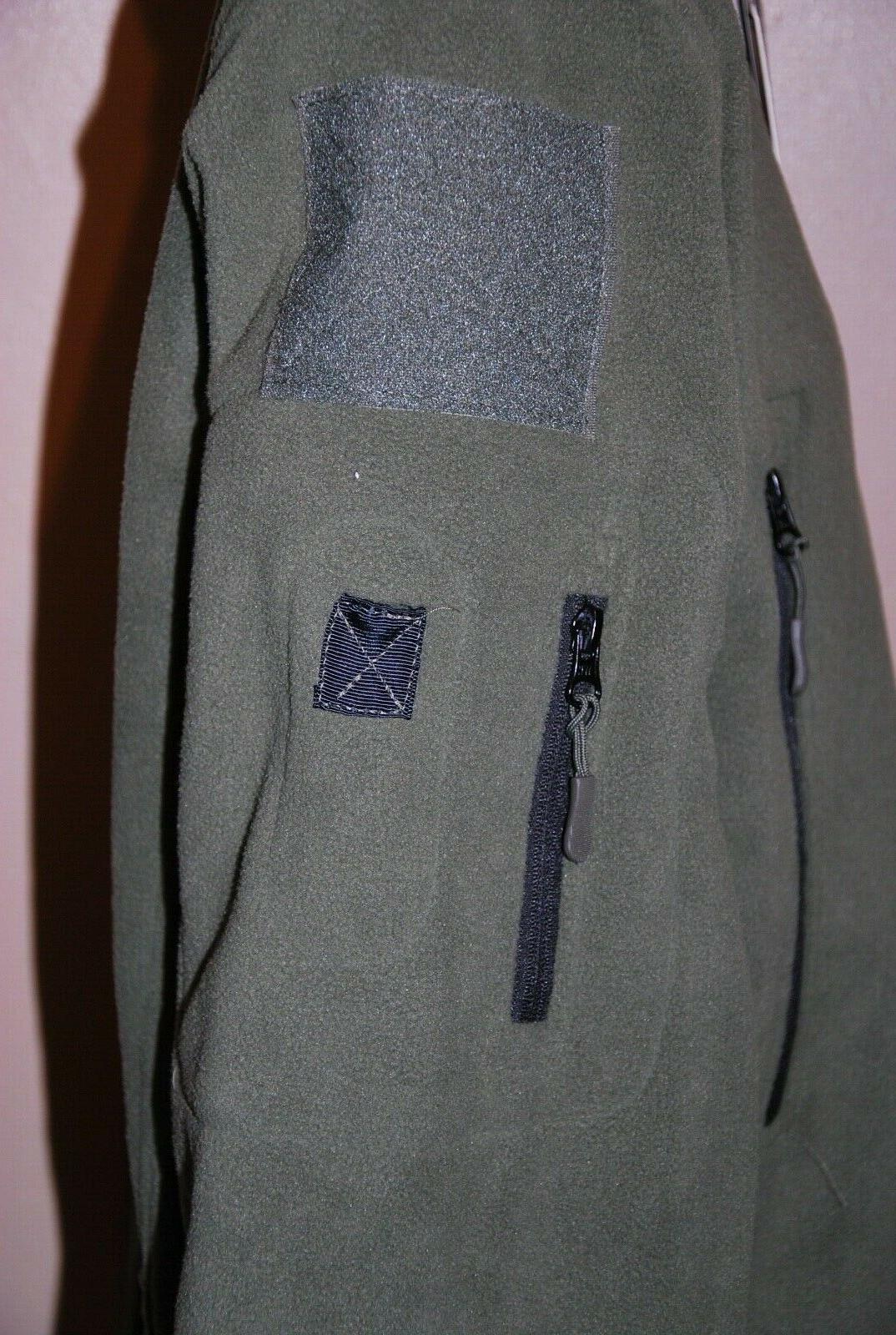 ReFire Shark Tactical Jacket Thermal Fleece Hoodie Green