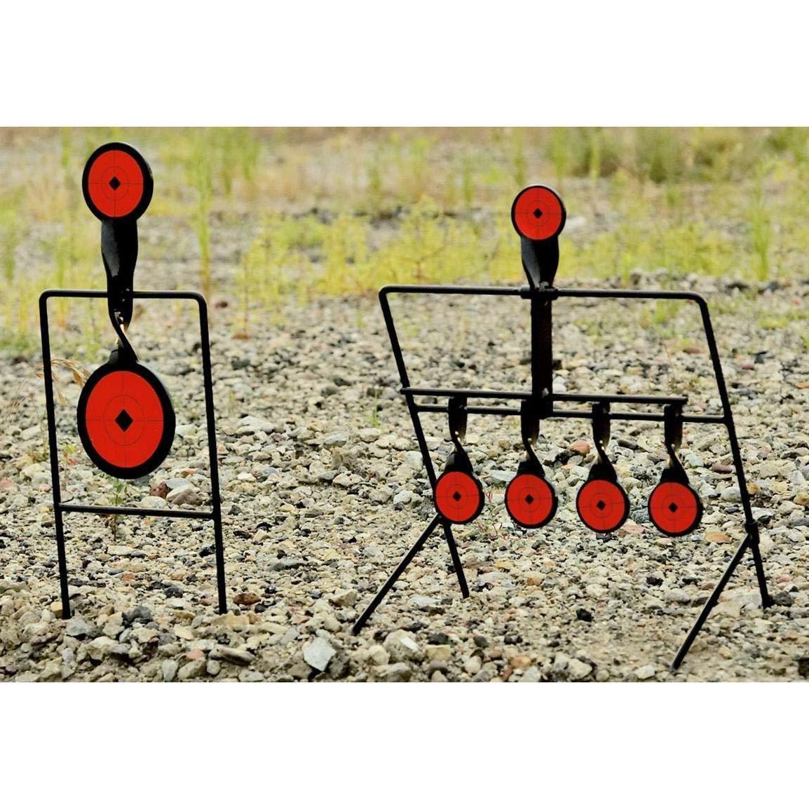 steel auto reset spinner shooting