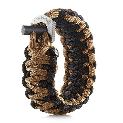 X-Plore Gear Survival Paracord 550 Kit Fire Starter, | Fit For Wilderness, Travel, Hunting