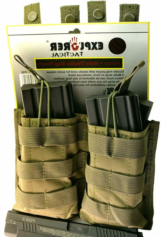 tactical double magazine holder molle pouch pistol