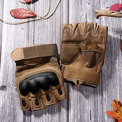 JIUSY Tactical Gloves Military Fingerless
