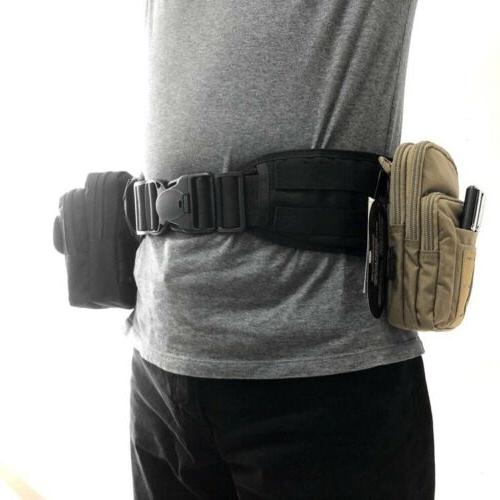 Tactical Heavy Duty Belt Hunting Gear Weight Waistband Load