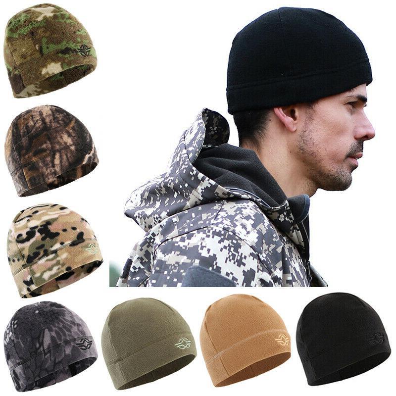 tactical hunting beanie hats polar fleece watch