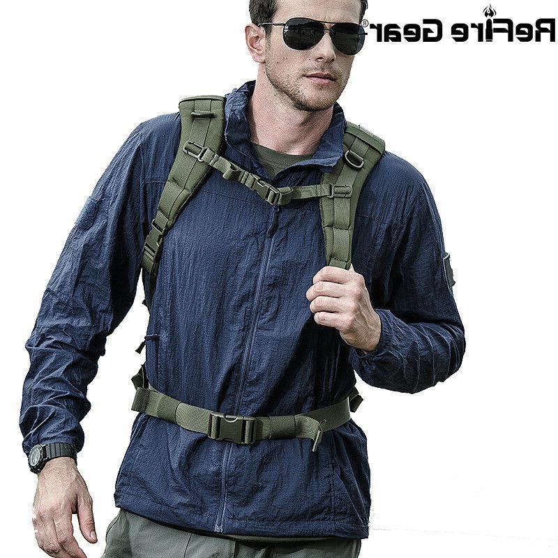 tactical lightweight jacket hooded breathable waterproof nyl