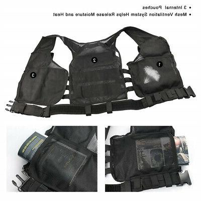 Tactical Military Molle PALs Plate Vest Police Assault Gear