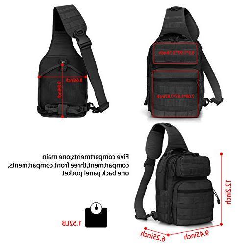 G4Free Outdoor Backpack, Sport Daypack Shoulder One Strap Small Backpack Hiking, Trekking, Pack