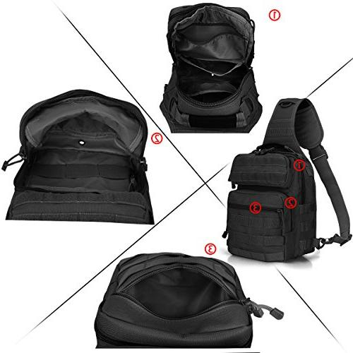 G4Free Outdoor Backpack, Military Sport Shoulder One Backpack Trekking, Molle Chest Pack