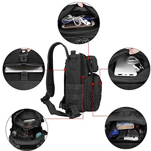 G4Free Outdoor Tactical Backpack, Daypack Shoulder One Strap Small Backpack for Trekking, Rover Chest Pack