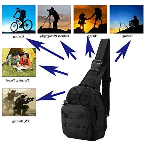 denlix Tactical Sling Outdoor Pack Backpack Military for Rover Sling for Men Women