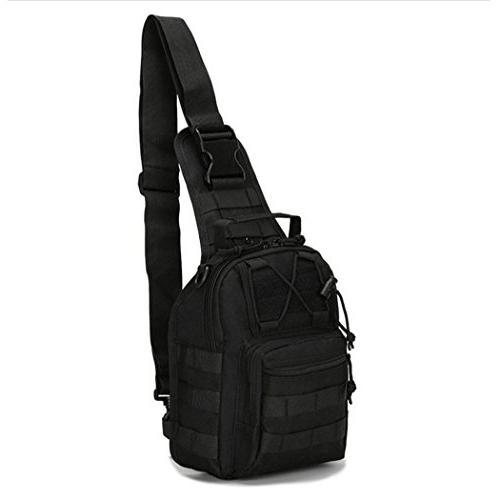 denlix Tactical Sling Bag Outdoor Backpack for Camping, Rover Sling Daypack Men
